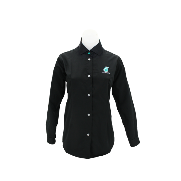 PETRONAS Corporate Black Working Shirt Long Sleeve (Female)