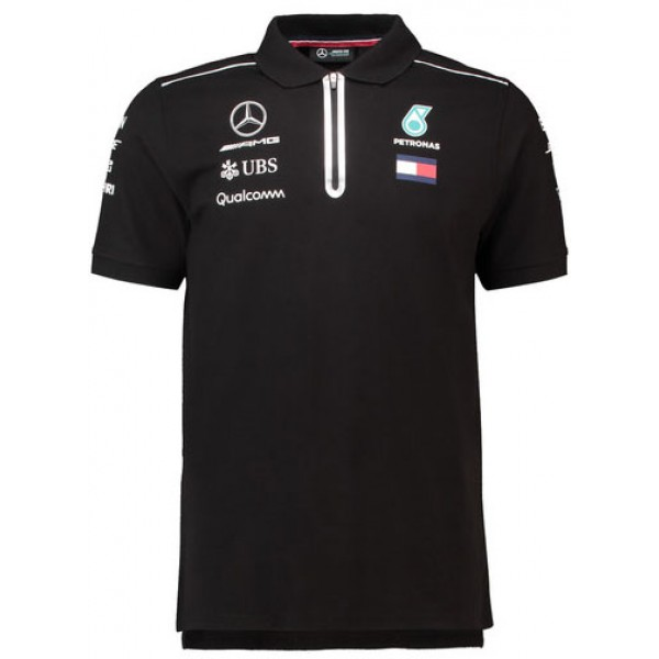 Mercedes AMG Petronas 2018 Team Polo - Black