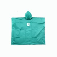 Water Proof Poncho with Hood (Adult Green)