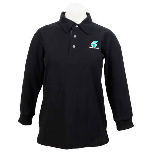 PETRONAS Corporate Polo T-Shirt Long Sleeve Black (Men)