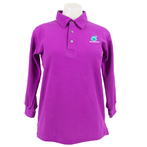 PETRONAS Corporate Polo T-Shirt Long Sleeve Purple (Men)