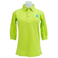 PETRONAS Corporate Polo T-Shirt 3/4 Sleeve Lime Green (Women)